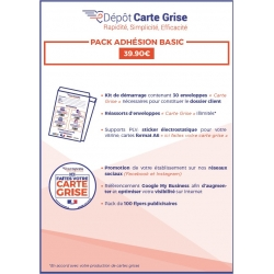 KITS CARTES GRISES EN PACKS ADHESION