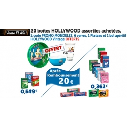 20 BOITES HOLLYWOOD ASSORTIES ACHETEES