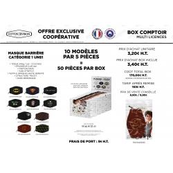 BOX COMPTOIR 50 MASQUES LICENCES